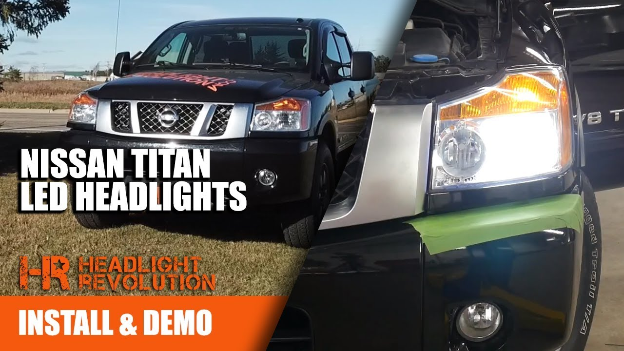 2003 2015 nissan titan led headlight bulbs low and high beam upgrades [ 1280 x 720 Pixel ]