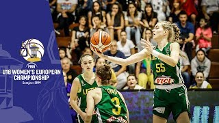 Bosnia and Herzegovina v Lithuania - Full Game - FIBA U18 Women's European Championship 2019