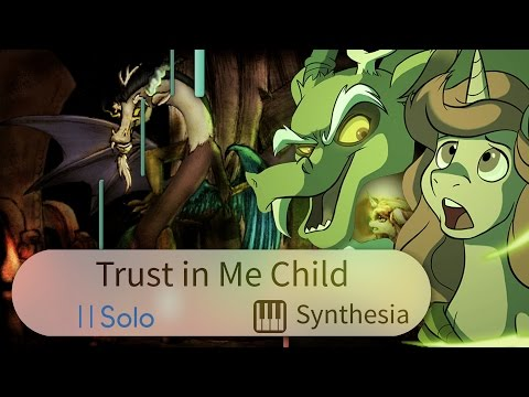 Trust in Me Child - Duo Cartoonist - |SOLO PIANO COVER WITH LYRICS| -- Synthesia HD