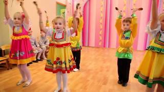 Красивый танец с ложками в детском саду(АНО