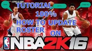 how to update your roster in nba2k16 on pc(step by step)