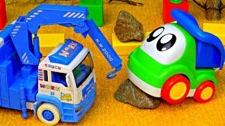 Машинки. Развивающие мультики: Грузовичок и Подъемный Кран. Машинки для детей.