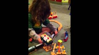 Wooden train crashes Colty's first