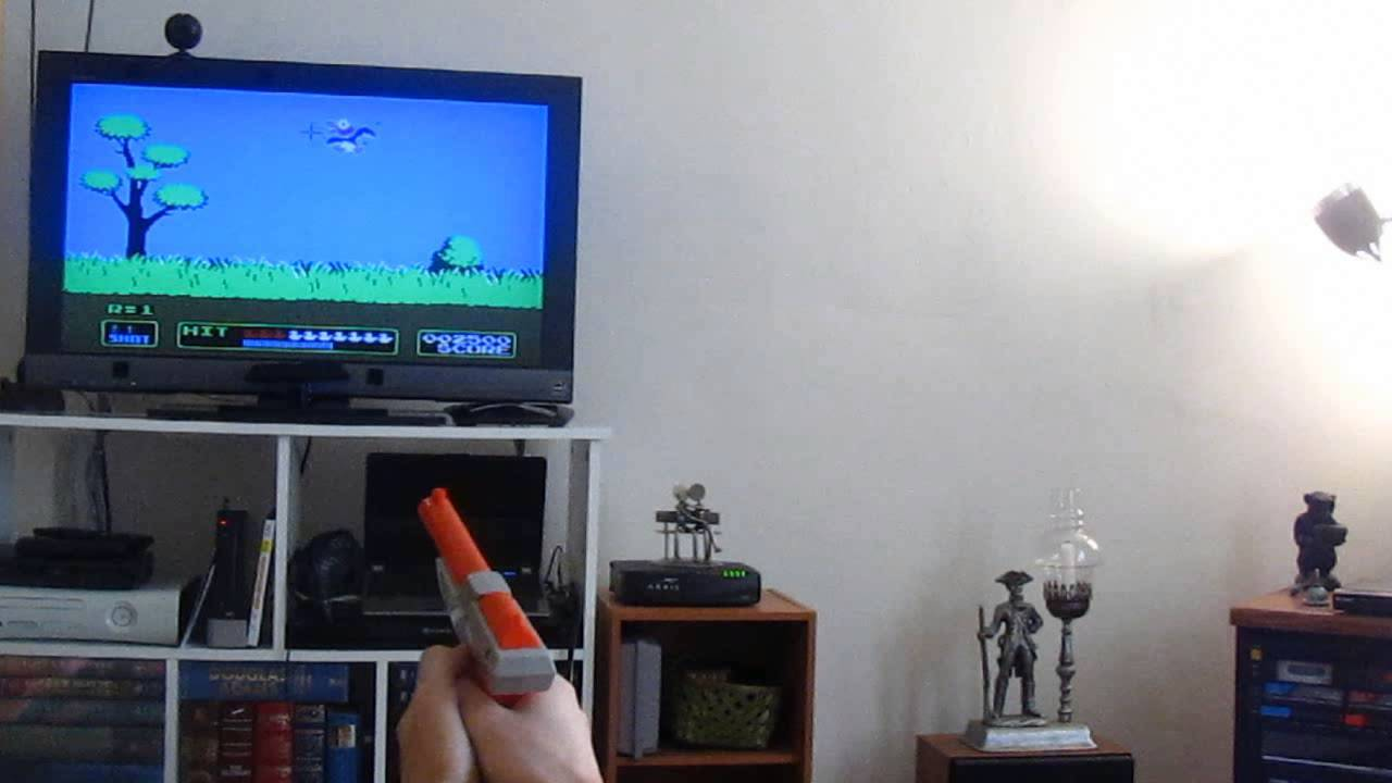 NES Zapper  Modded to Work with PC and Flat Screen TV