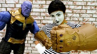 Funny video for kids. Thanos vs Marvel superheroes.