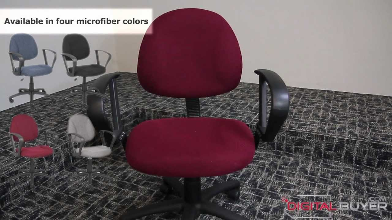 posture deluxe chair crate and barrel dining room chairs boss b317 fabric task youtube