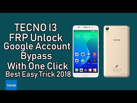 Tecno i3 FRP Unlock Google Account Bypass