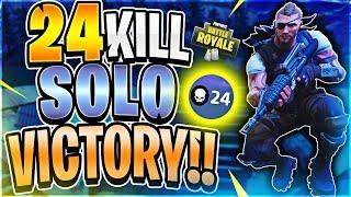 CRAZY 24 KILL SOLO WORLD RECORD ATTEMPT #7 (Fortnite Battle Royale)
