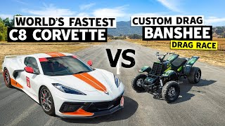 Race Spec Banshee vs. Emelia Hartford in the World's Fastest C8 Corvette // This vs. That