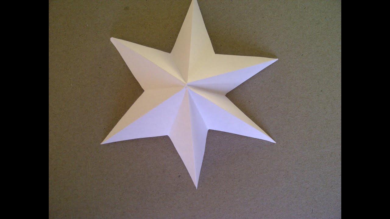 Cómo hacer una Estrella de Papel con 6 Puntas. Fazendo uma estrela ...