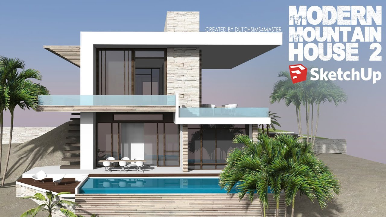 Exciting modern house sketchup design ideas simple for Minimalist house sketchup