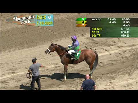 video thumbnail for MONMOUTH PARK 07-18-20 RACE 6