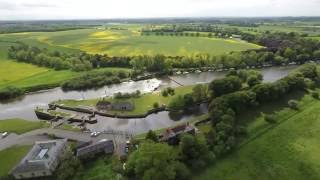 Naburn Lock Caravan Park Aerial Video