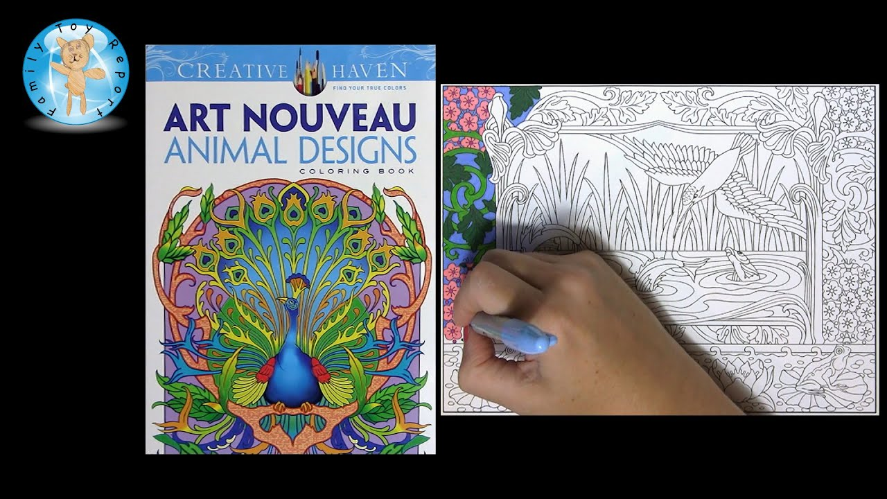 Creative Haven Art Nouveau Animal Designs Adult Coloring Book Bird