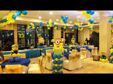 Basic Minion Theme Decoration in Noida YouTube