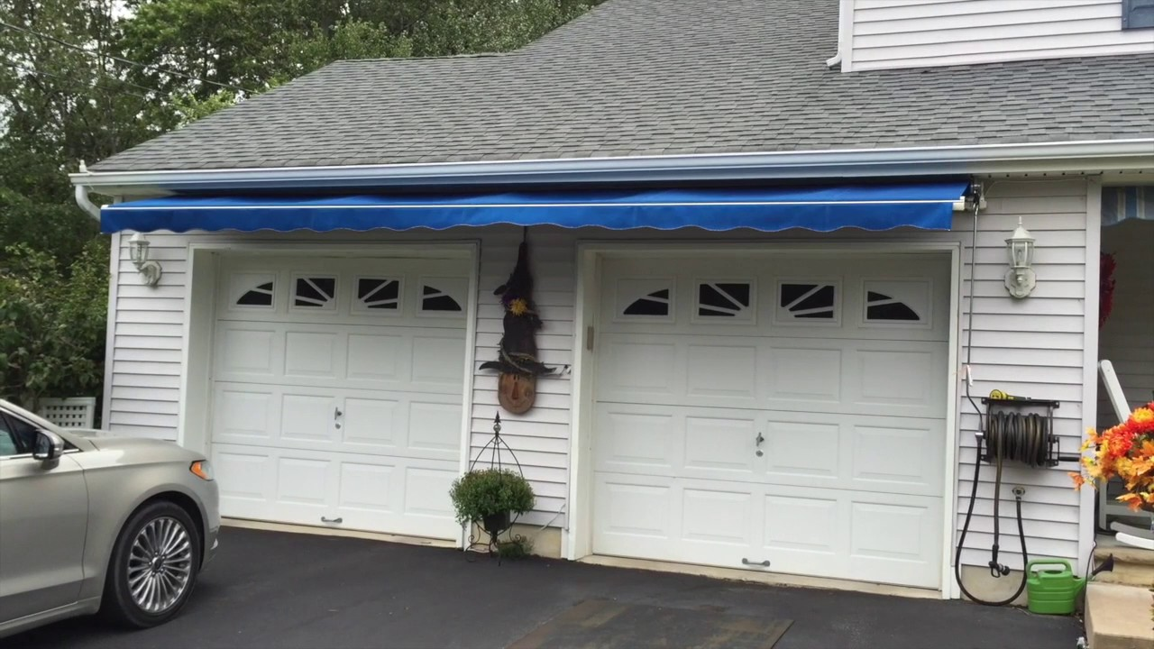 Retractable Awning Over Garage Doors Long Beach Twp. NJ LBI & Retractable Awning Over Garage Doors Long Beach Twp. NJ LBI - YouTube