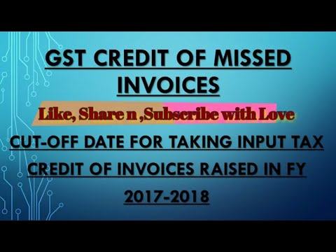 GST:PURCHASE INVOICE FOR JULY 2017 TO...