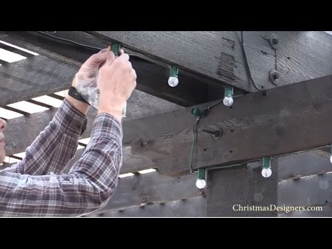 Installing Year Round Led Christmas Lighting For Outdoor Dining Areas Backyard Patio