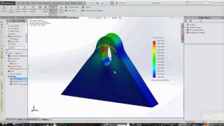 Bearing Load and St. Venant's Principle in Solidworks