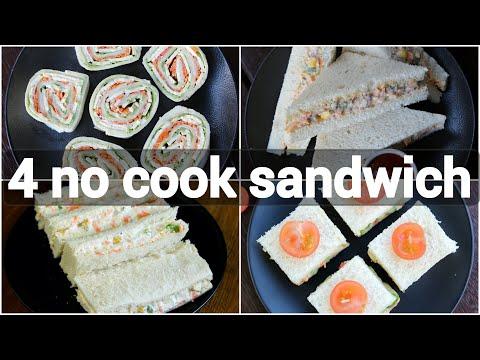 No Cook Sandwich Recipes   Kids Tiffin Box Sandwich Recipes   Creamy Sandwich Recipes