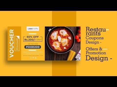 Restaurant coupons design in adobe illustrator cc
