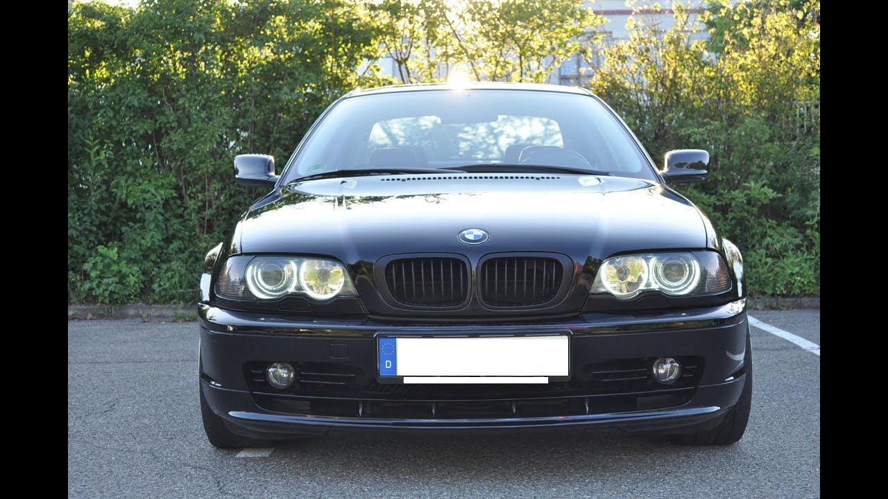 bmw e46 ccfl angel eyes kit f r cabrio coupe und limousine deutsch ger youtube. Black Bedroom Furniture Sets. Home Design Ideas