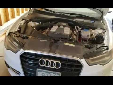 how to change oil on 2011 2015 audi a6 c7 4g 3 0t diy youtube. Black Bedroom Furniture Sets. Home Design Ideas