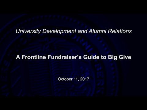 A Frontline Fundraiser's Guide to Big Give