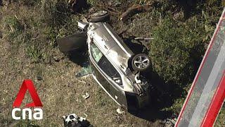<b>Tiger Woods</b> severely injured in car crash in Los Angeles