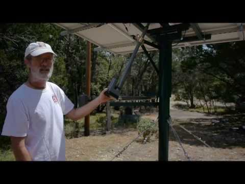 Dual Axis Solar Tracker Installation with Home CSP TinyTracker