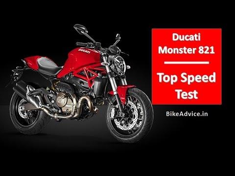 ducati monster 821 top speed test - youtube