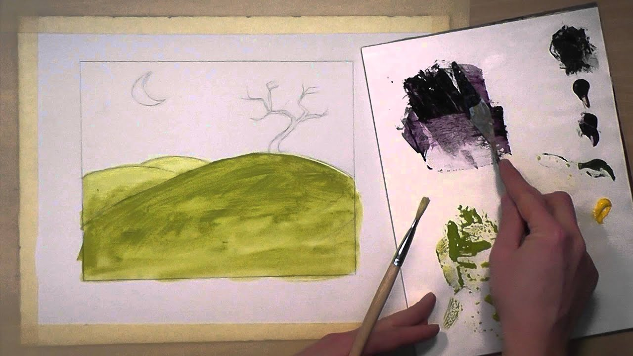 Washes of acrylic paint youtube for How to start acrylic painting