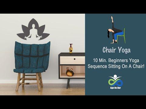 10 Minute Chair Yoga | Yoga For Seniors | Knee Safe Yoga | Desk Yoga