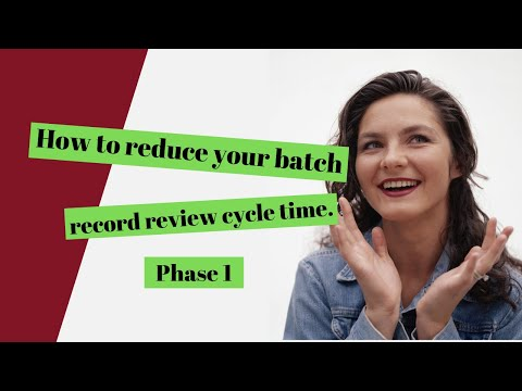 Master Batch Record Requirements Drug Development (Phase 1)