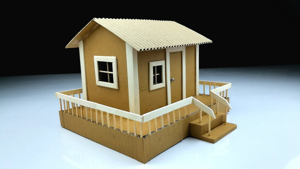 Cardboard Art And Craft Ideas How To Make A Beautiful House From