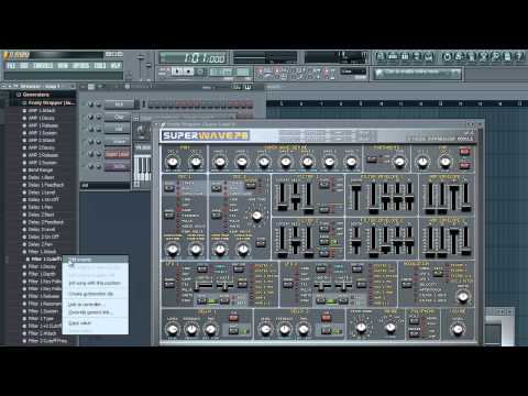 FL STUDIO - Tutorials - How to use automation clips with VST Instruments