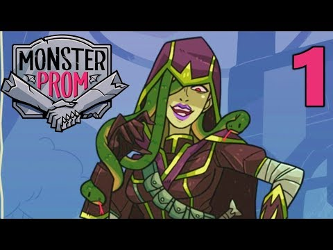 [1] Romancing A Gorgon?!? Competitive Dating Sim! (Monster Prom Multiplayer Gameplay)