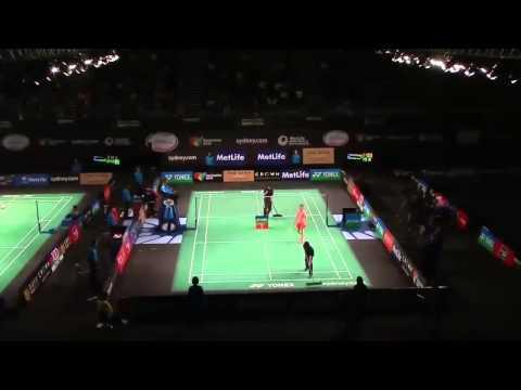 Badminton Wang Shixian vs Saina Nehwal    Badminton 2015 New