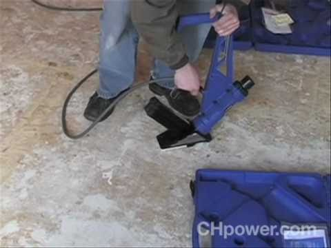 How To Use A Flooring Nailer Youtube