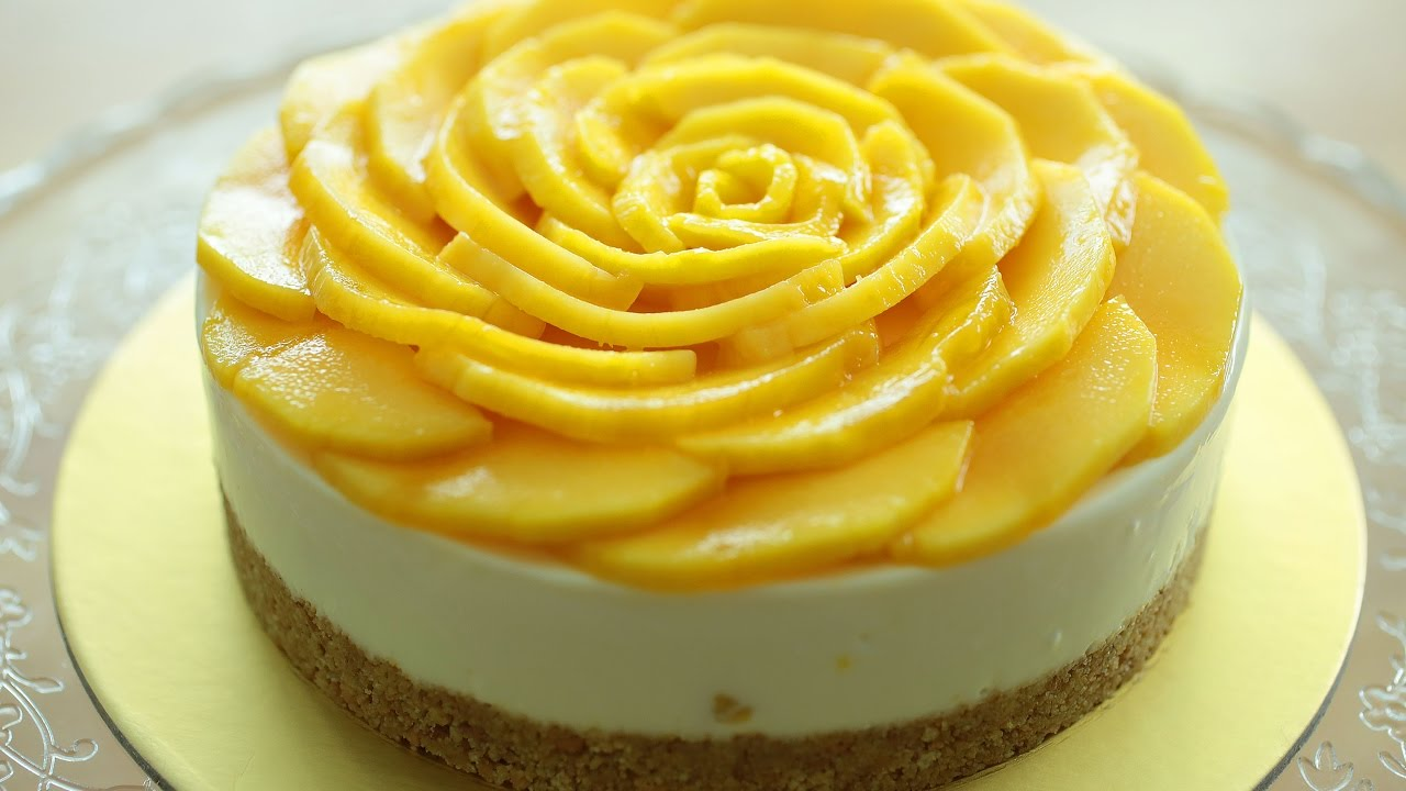 How To Decorate Mango Cake