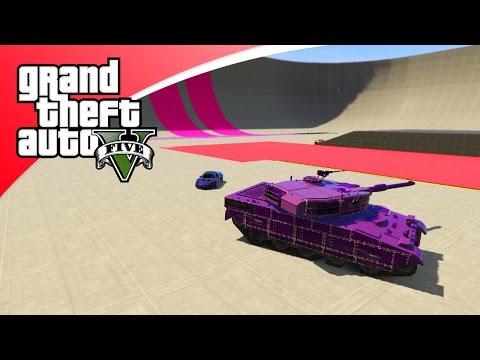 GTA V Online - HET GEVECHT TUSSEN AUTO EN TANKS! (GTA 5 Funny Jobs)