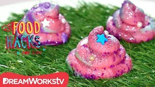 Unicorn Poop Edible Cookie Dough + MORE Cookie Dough Hacks! | FOOD HACKS FOR KIDS
