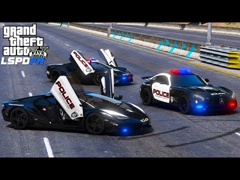 GTA 5 LSPDFR #527 | New Super Car Fleet |Need For Speed Hot Pursuit Lamborghini, AMG GT R & Ford GT