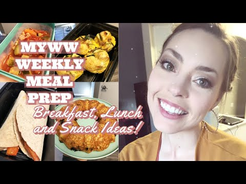WEEKLY MEAL PREP | MyWW Blue Plan | Weight Watchers Low Point Recipes + Tips For Meal Prep!