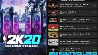 NBA 2K20 LEAKED SOUNDTRACK!!| IS THIS THE BEST 2K SOUNDTRACK EVER MADE !? *NOT CLICKBAIT*