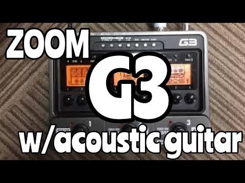 ZOOM G3 × Acoustic guitar Demo