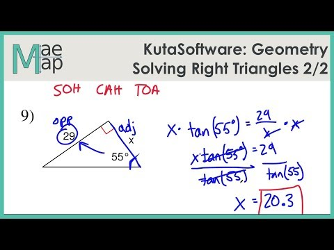 KutaSoftware: Geometry- Solving Right Triangles Part 2 - YouTube