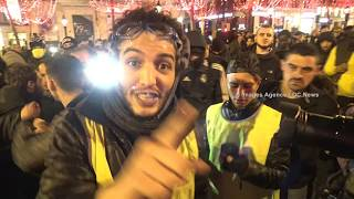 Gilets jaunes. Acte VI. La haine des médias et des journalistes. Paris/France - 22 Décembre 2018