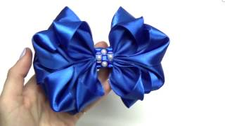 Repeat youtube video DIY crafts How to Make Beauty Easy Bow/ Ribbon Hair Bow Tutorial /DIY ribbon bow/DIY beauty and easy