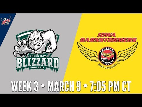 Week 3 | Green Bay Blizzard at Iowa Barnstormers